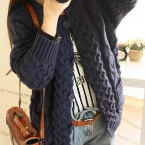Autumn/Winter Knitting Twist To Restore Ancient Ways More Cardigan Sweater Sweater Dress Coat