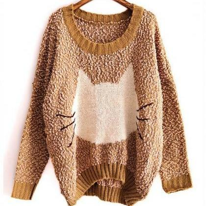 Cat Big Yards Sweater