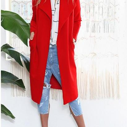 Fashion Loose Solid Color Coat