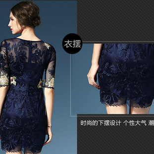 Thin gauze heavy embroidered dress ..