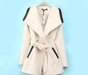 Double-Breasted Wool Coat Jacket
