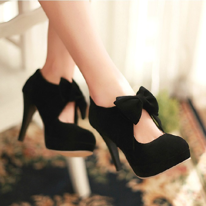 BLACK TIE HIGH HEELS ABAGI