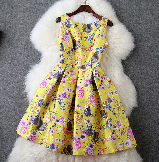 Fashion Printed Sleeveless Dress