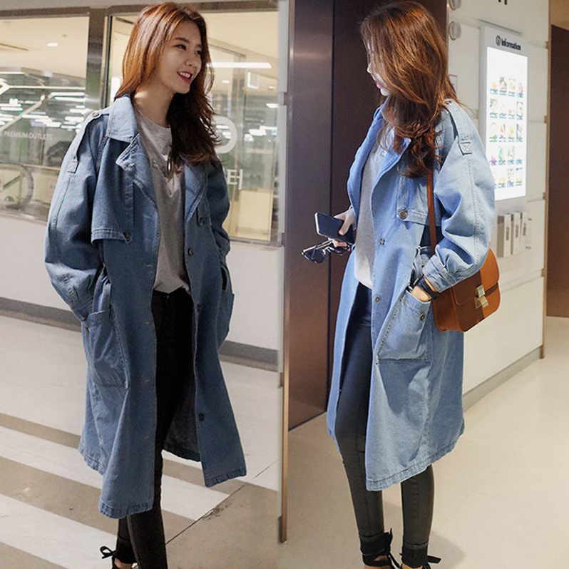 Images of Long Denim Coat - Reikian