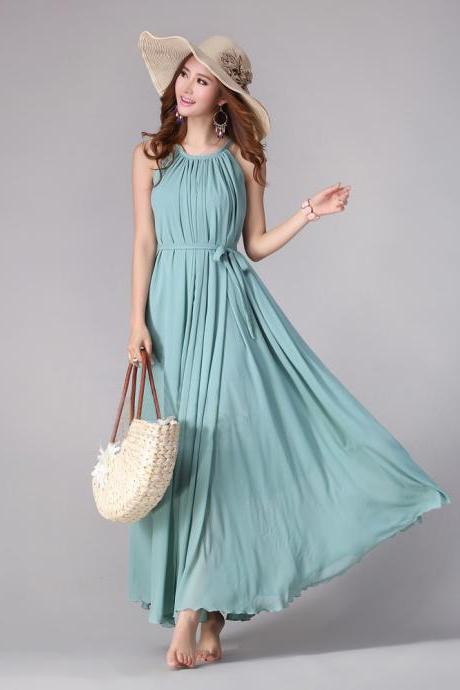 Sundress Boho Long Maxi Dress Holiday Beach Dress Plus size Available Small Regular Tall