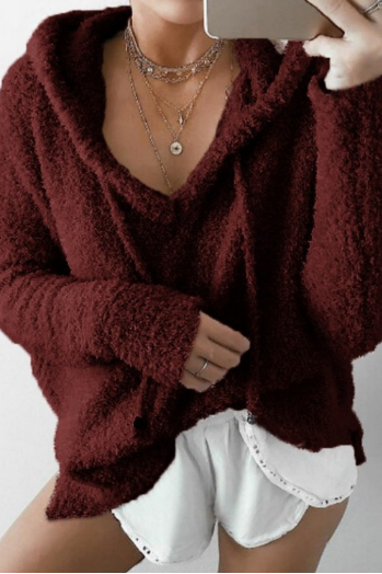 Mohair hooded hooded sweater