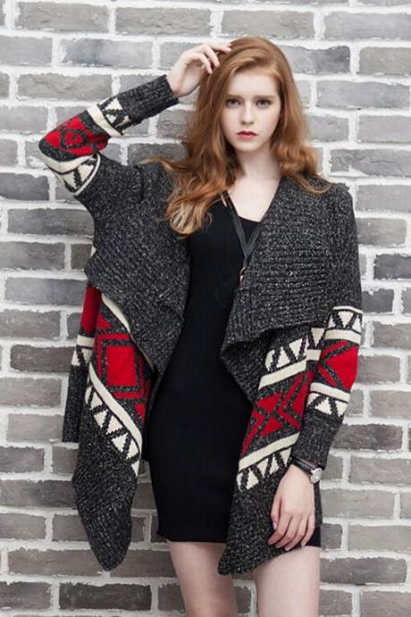 Retro Knitted Wool Cardigan