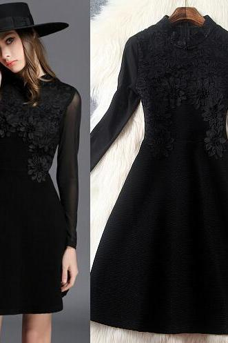 Lace Embroidery Stitching Dresses