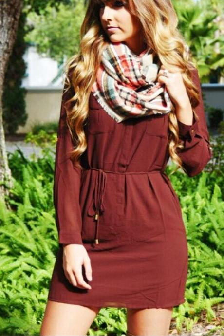 Long Sleeve Fashion Dress