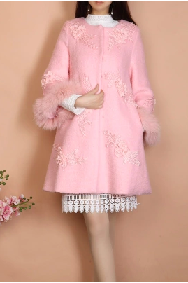 The new winter Nine points nail bead flower lace collar cloth sleeve of your coat QGQC