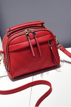 The new female bag lady's shoulder inclined bag, pu leather handbag SD