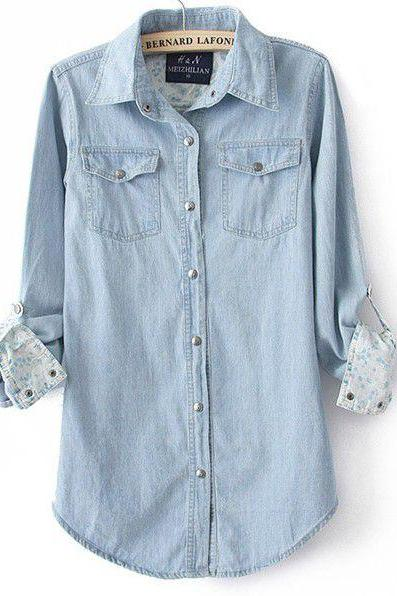 Fashion Women's Denim Shirt