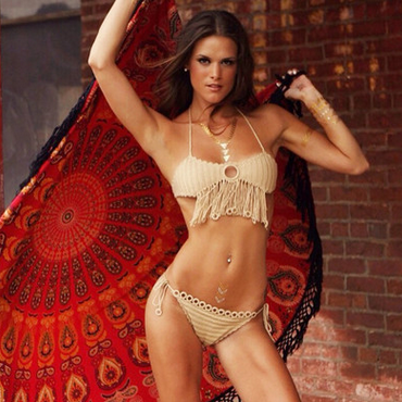 Knitting Swimsuit Bikini Tassel Suit YY